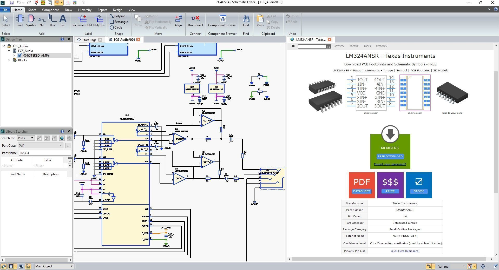 eCADSTAR Schematic Editor Online Libraries